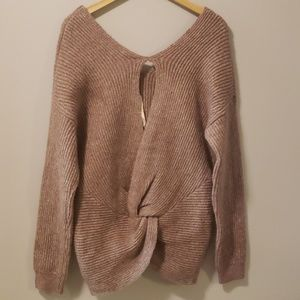 Mystree Knit Sweater Lilac Twist Back Boutique New